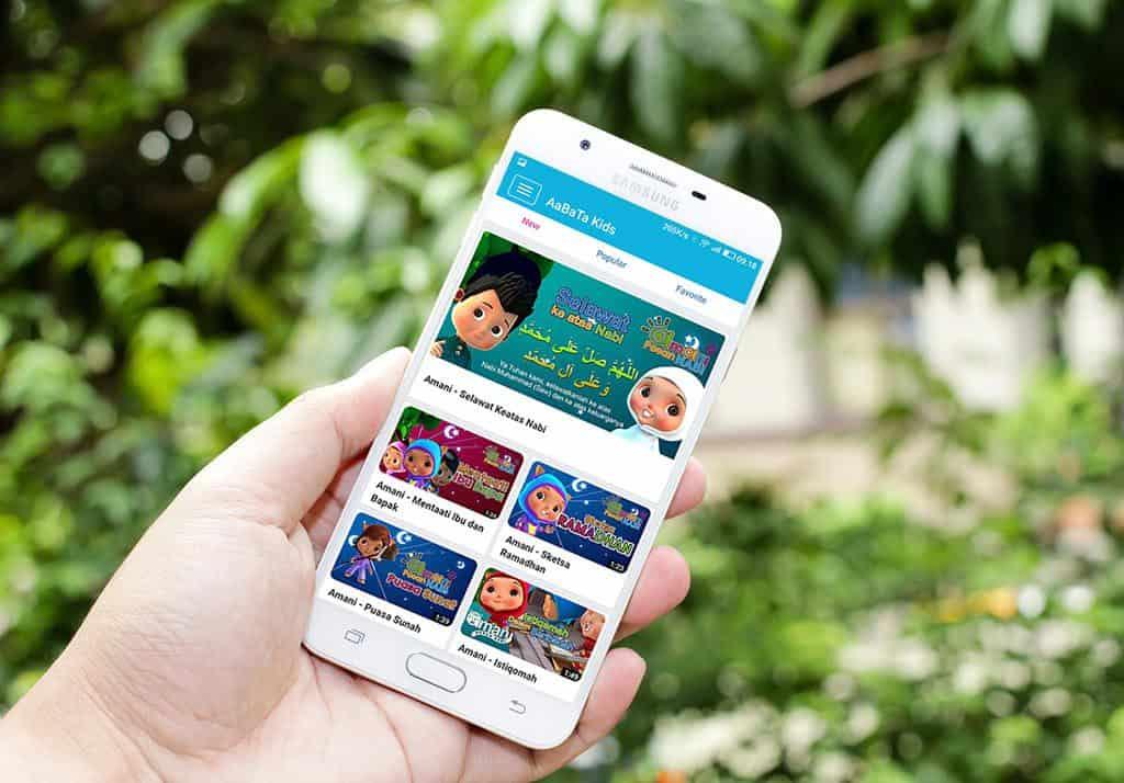 ilustrasi aplikasi islami Aabata Kids
