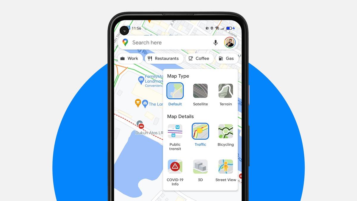 Google Maps - Penyekatan Jalan